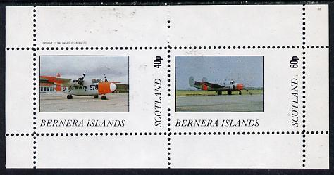Bernera 1982 Aircraft #03 perf  set of 2 values (40p & 60p) unmounted mint