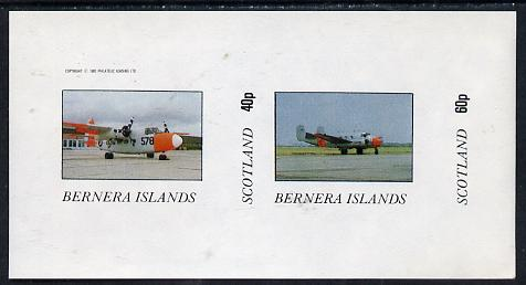 Bernera 1982 Aircraft #03 imperf  set of 2 values (40p & 60p) unmounted mint