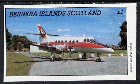 Bernera 1982 Aircraft #03 imperf souvenir sheet (�1 value) unmounted mint