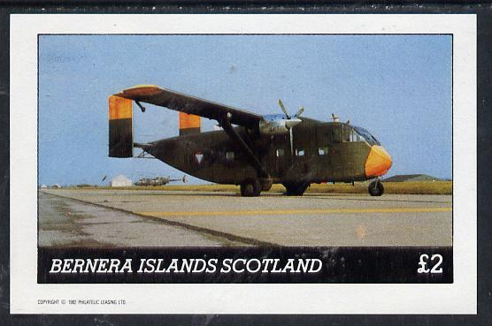 Bernera 1982 Aircraft #03 imperf deluxe sheet (�2 value) unmounted mint