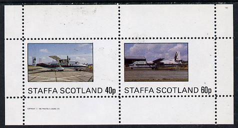 Staffa 1982 Aircraft #1 perf  set of 2 values unmounted mint