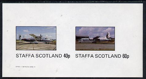 Staffa 1982 Aircraft #1 imperf  set of 2 values unmounted mint