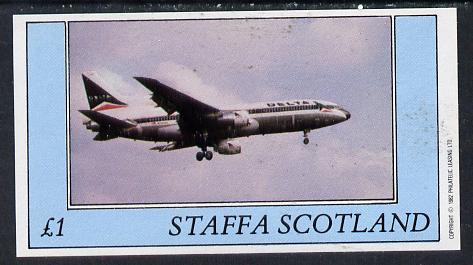 Staffa 1982 Aircraft #1 imperf souvenir sheet (�1 value) unmounted mint