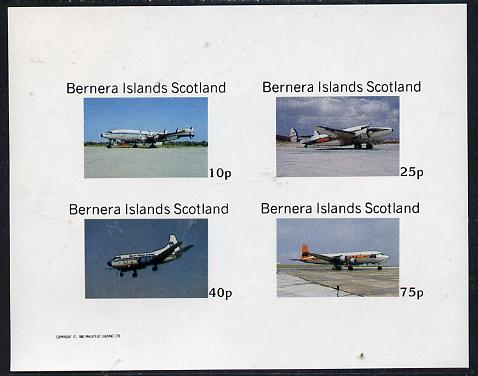 Bernera 1982 Aircraft #04 imperf  set of 4 values (10p to 75p) unmounted mint