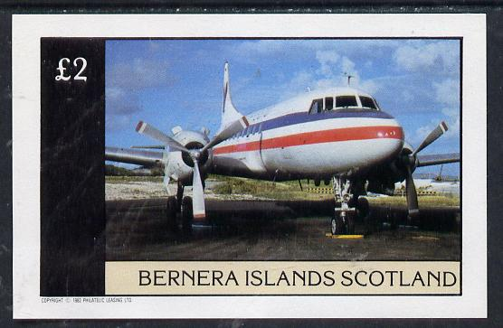 Bernera 1982 Aircraft #04 imperf deluxe sheet (�2 value) unmounted mint
