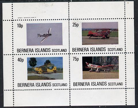 Bernera 1982 Aircraft #05 perf  set of 4 values (10p to 75p) unmounted mint