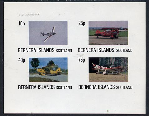 Bernera 1982 Aircraft #05 imperf  set of 4 values (10p to 75p) unmounted mint