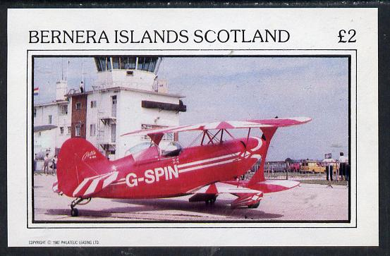 Bernera 1982 Aircraft #05 imperf deluxe sheet (�2 value) , stamps on aviation