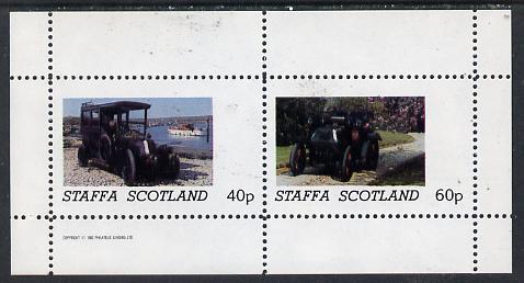 Staffa 1982 Vintage Cars #2 perf  set of 2 values (40p & 60p) unmounted mint