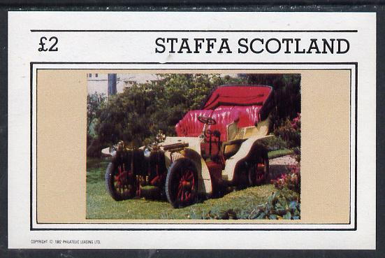 Staffa 1982 Vintage Cars #2 imperf deluxe sheet (�2 value) unmounted mint