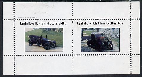 Eynhallow 1982 Vintage Cars #6 perf  set of 2 values (40p & 60p) unmounted mint