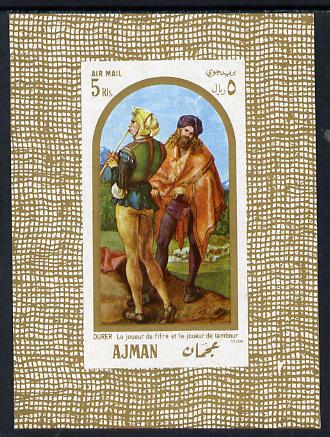 Ajman 1968 Paintings imperf m/sheet (Musicians) unmounted mint Mi BL 24