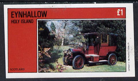 Eynhallow 1982 Vintage Cars #6 imperf souvenir sheet (�1 value) unmounted mint