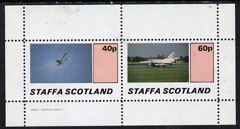 Staffa 1982 Jets #3 perf  set of 2 values (40p & 60p) unmounted mint