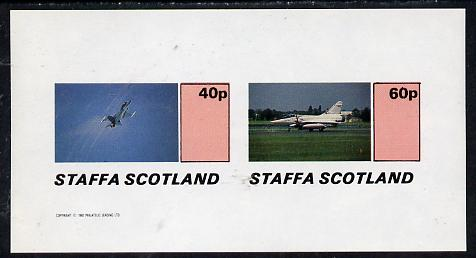 Staffa 1982 Jets #3 imperf  set of 2 values (40p & 60p) unmounted mint