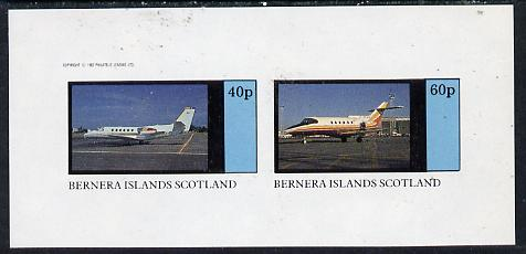 Bernera 1982 Jets imperf  set of 2 values (40p & 60p) unmounted mint