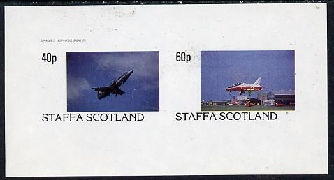 Staffa 1982 Military Jets #1 imperf  set of 2 values (40p & 60p) unmounted mint
