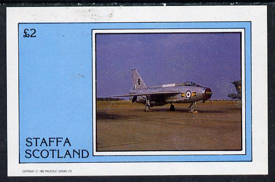 Staffa 1982 Military Jets #1 imperf deluxe sheet (�2 value)  unmounted mint