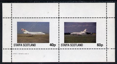 Staffa 1982 Jets #1 perf  set of 2 values (40p & 60p) unmounted mint