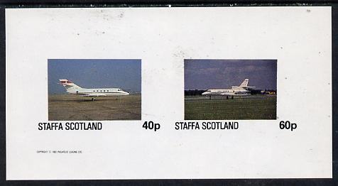 Staffa 1982 Jets #1 imperf  set of 2 values (40p & 60p) unmounted mint