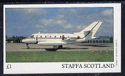 Staffa 1982 Jets #1 imperf souvenir sheet (�1 value)  unmounted mint, stamps on aviation