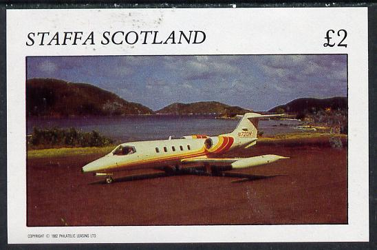 Staffa 1982 Jets #1 imperf deluxe sheet (�2 value) unmounted mint