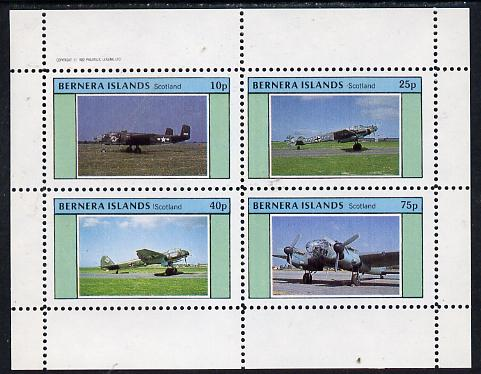Bernera 1982 WW2 Aircraft perf  set of 4 values (10p to 75p) unmounted mint