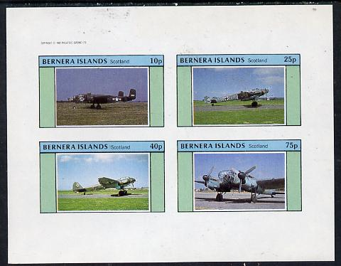 Bernera 1982 WW2 Aircraft imperf  set of 4 values (10p to 75p) unmounted mint