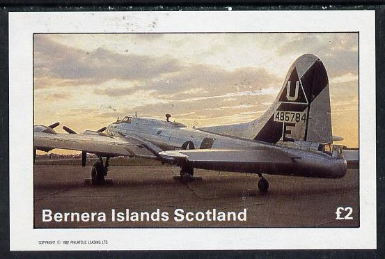 Bernera 1982 WW2 Aircraft imperf deluxe sheet (�2 value) unmounted mint