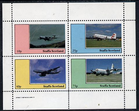 Staffa 1982 Aircraft #5 perf  set of 4 values unmounted mint