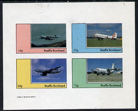Staffa 1982 Aircraft #5 imperf  set of 4 values unmounted mint