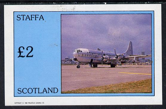 Staffa 1982 Aircraft #5 imperf deluxe sheet (�2 value) unmounted mint
