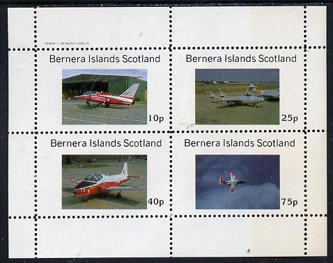 Bernera 1982 Aircraft #06 perf  set of 4 values (10p to 75p) unmounted mint