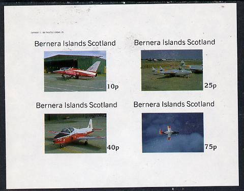 Bernera 1982 Aircraft #06 imperf  set of 4 values (10p to 75p) unmounted mint