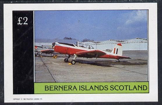 Bernera 1982 Aircraft #06 imperf deluxe sheet (�2 value) unmounted mint