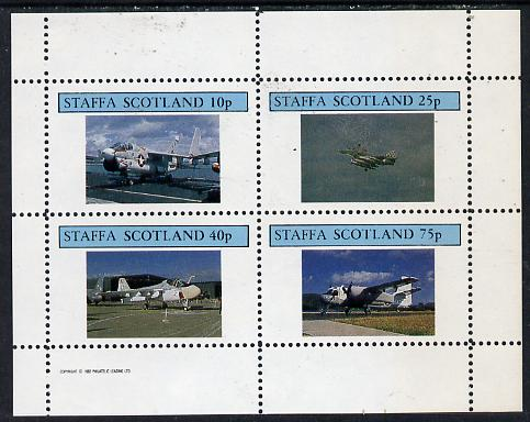 Staffa 1982 Jets #2 perf  set of 4 values (10p to 75p) unmounted mint