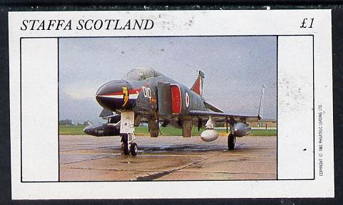 Staffa 1982 Jets #2 imperf souvenir sheet (�1 value)  unmounted mint