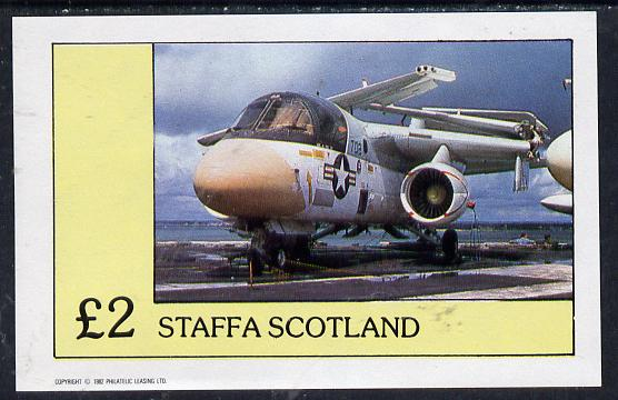 Staffa 1982 Jets #2 imperf deluxe sheet (�2 value) unmounted mint