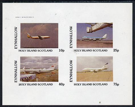 Staffa 1982 Airliners #1 imperf  set of 4 values (10p to 75p) unmounted mint