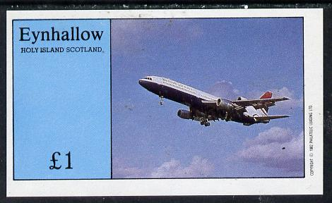 Staffa 1982 Airliners #1 imperf souvenir sheet (�1 value)  unmounted mint
