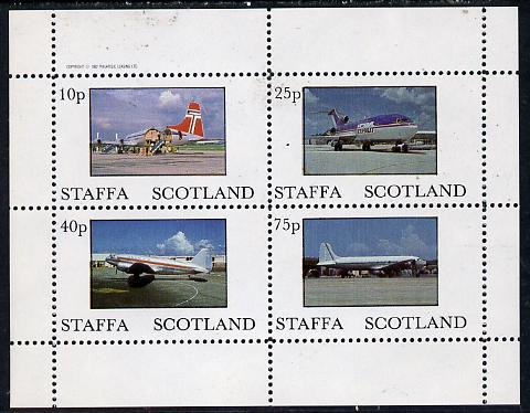 Staffa 1982 Aircraft #3 perf  set of 4 values (10p to 75p) unmounted mint