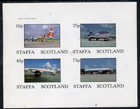 Staffa 1982 Aircraft #3 imperf  set of 4 values unmounted mint