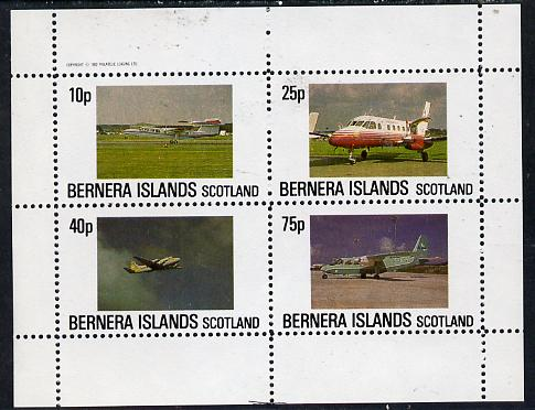 Bernera 1982 Aircraft #07 perf  set of 4 values (10p to 75p) unmounted mint