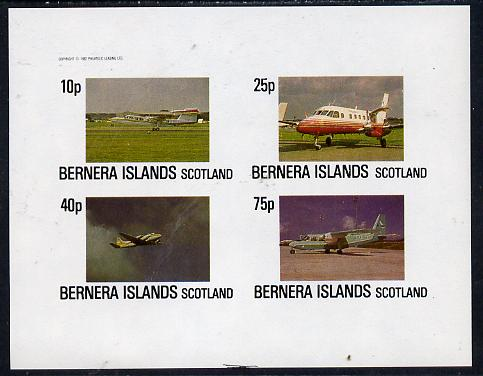 Bernera 1982 Aircraft #07 imperf  set of 4 values (10p to 75p) unmounted mint