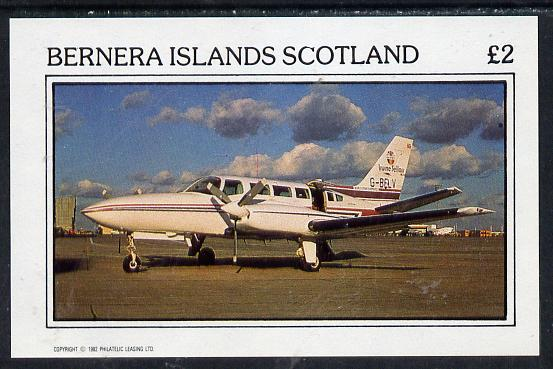Bernera 1982 Aircraft #07 imperf deluxe sheet (�2 value) unmounted mint