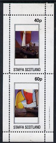 Staffa 1981 Yachts perf  set of 2 values (40p & 60p) unmounted mint