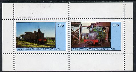 Bernera 1982 Steam Locos #08 perf  set of 2 values (40p & 60p) unmounted mint