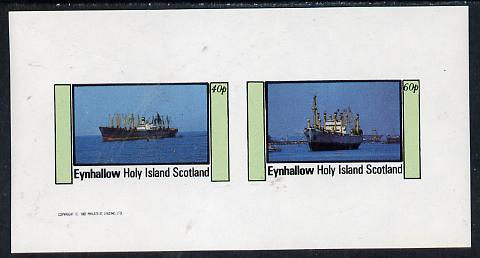 Eynhallow 1982 Merchant Ships imperf  set of 2 values (40p & 60p) unmounted mint