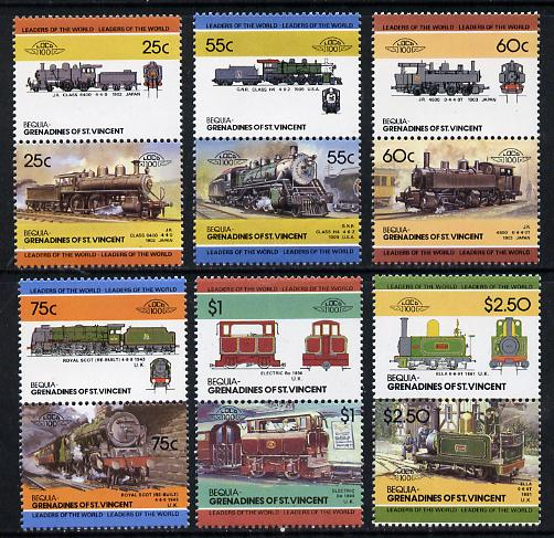 St Vincent - Bequia 1985 Locomotives #4 (Leaders of the World) set of 12 unmounted mint