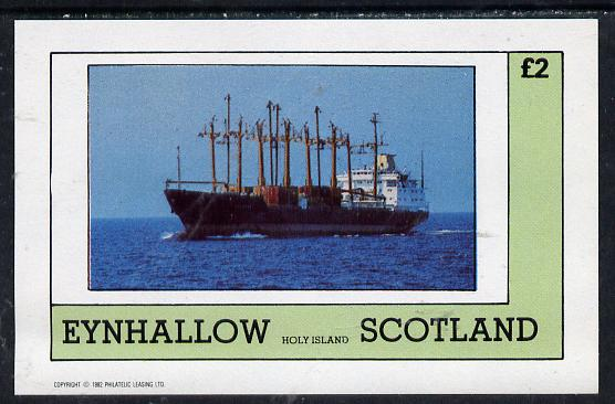 Eynhallow 1982 Merchant Ships imperf deluxe sheet (�2 value) unmounted mint